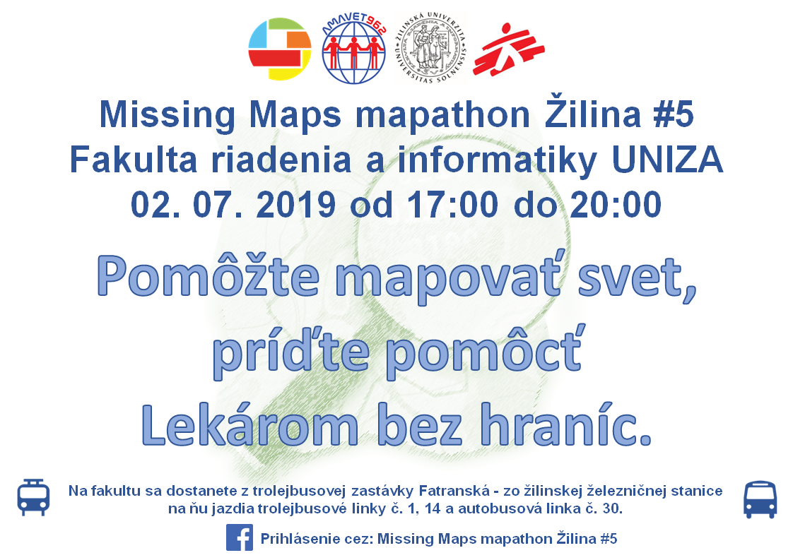 Plagát Missing Maps mapathon Žilina #5